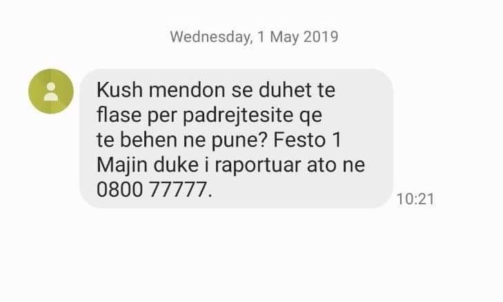 KDI organizoi kampanjën me SMS për herë të dytë
